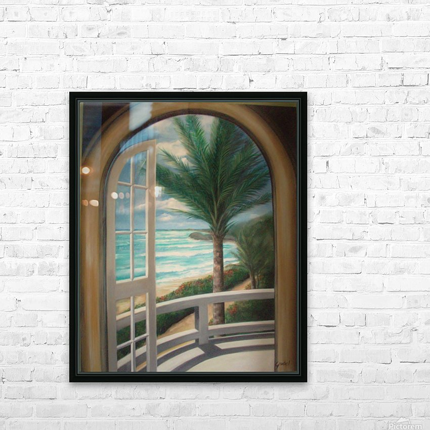 Balcony HD Sublimation Metal print with Decorating Float Frame (BOX)