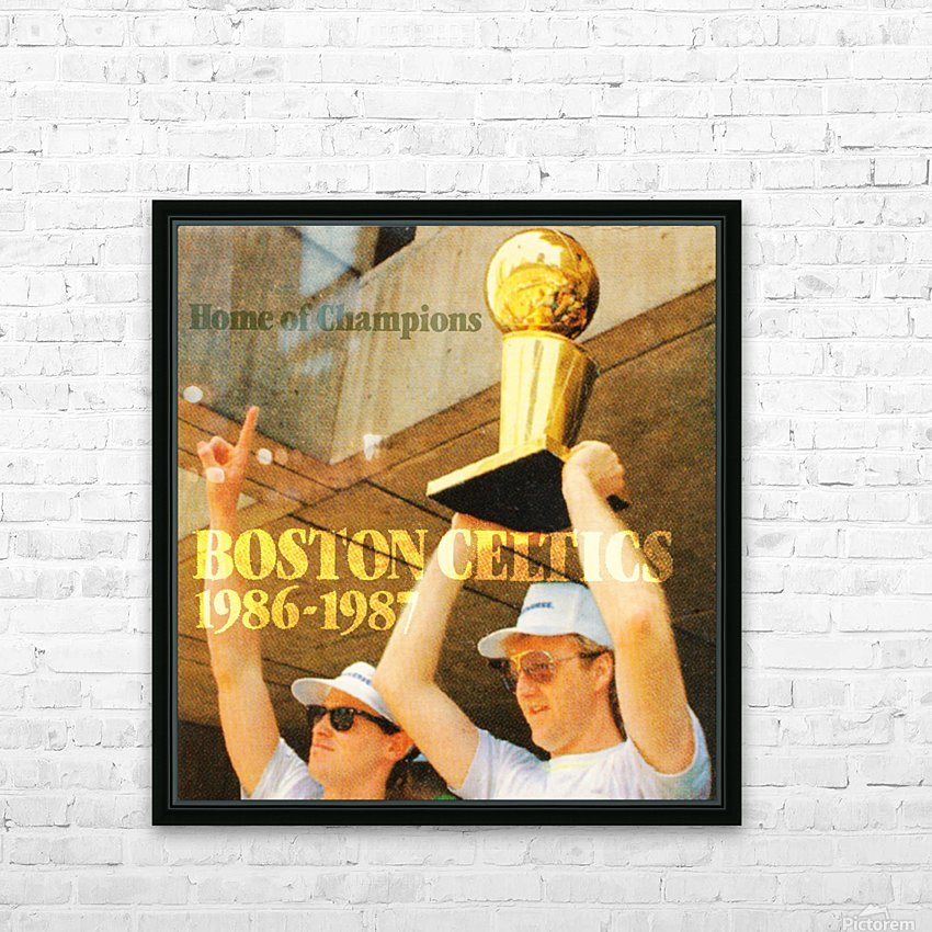 1986 Bird and McHale HD Sublimation Metal print with Decorating Float Frame (BOX)