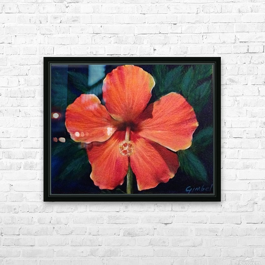 Hibiscus HD Sublimation Metal print with Decorating Float Frame (BOX)