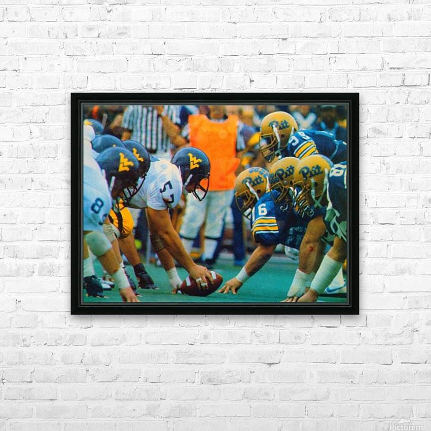 1981 College Football Photo West Virginia Pitt Panthers Wall Art HD Sublimation Metal print with Decorating Float Frame (BOX)