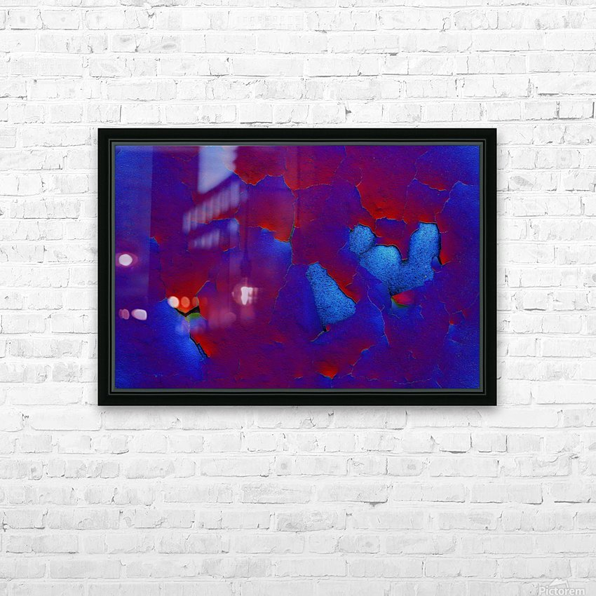 Rouge ecaille HD Sublimation Metal print with Decorating Float Frame (BOX)