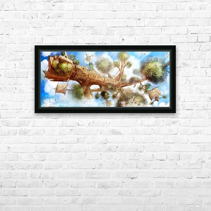 Tree Ship HD Sublimation Metal print with Decorating Float Frame (BOX)