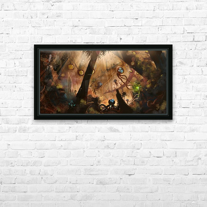 First Contact HD Sublimation Metal print with Decorating Float Frame (BOX)