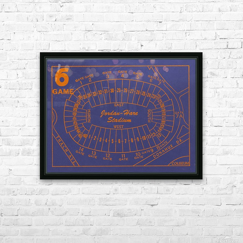 1979 Auburn Tigers Jordan Hare Stadium Map HD Sublimation Metal print with Decorating Float Frame (BOX)