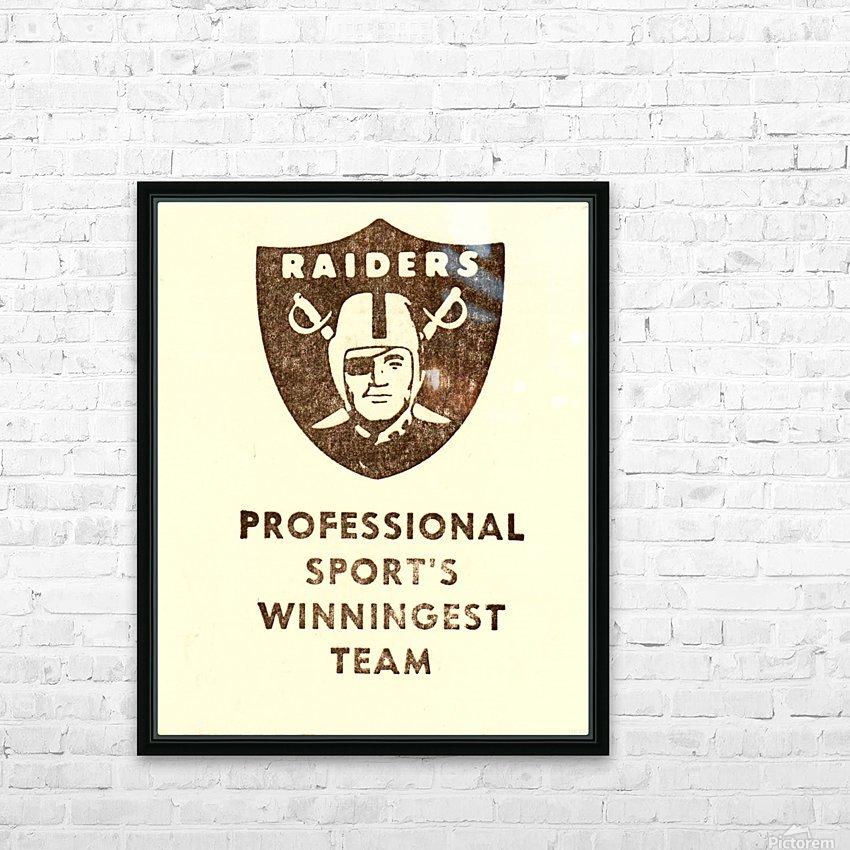 1983 Los Angeles Raiders HD Sublimation Metal print with Decorating Float Frame (BOX)