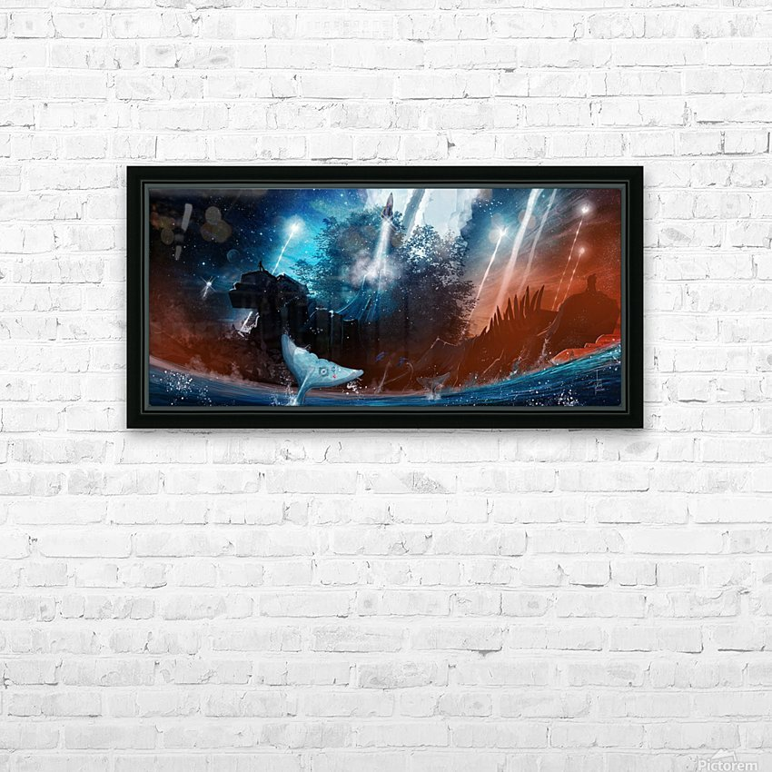 The Stars Are Our Destination HD Sublimation Metal print with Decorating Float Frame (BOX)