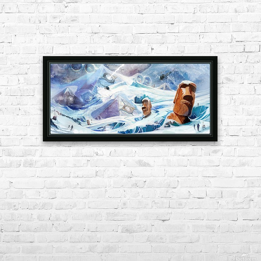 Lost Antarctida HD Sublimation Metal print with Decorating Float Frame (BOX)