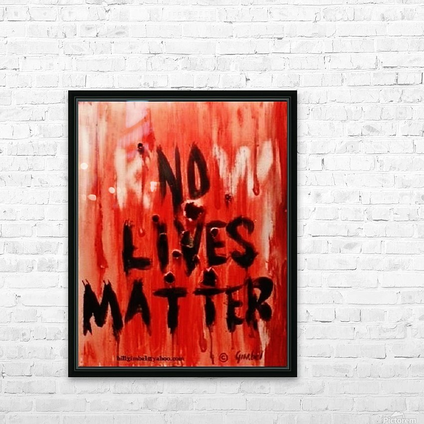 KnoW  lives matter HD Sublimation Metal print with Decorating Float Frame (BOX)