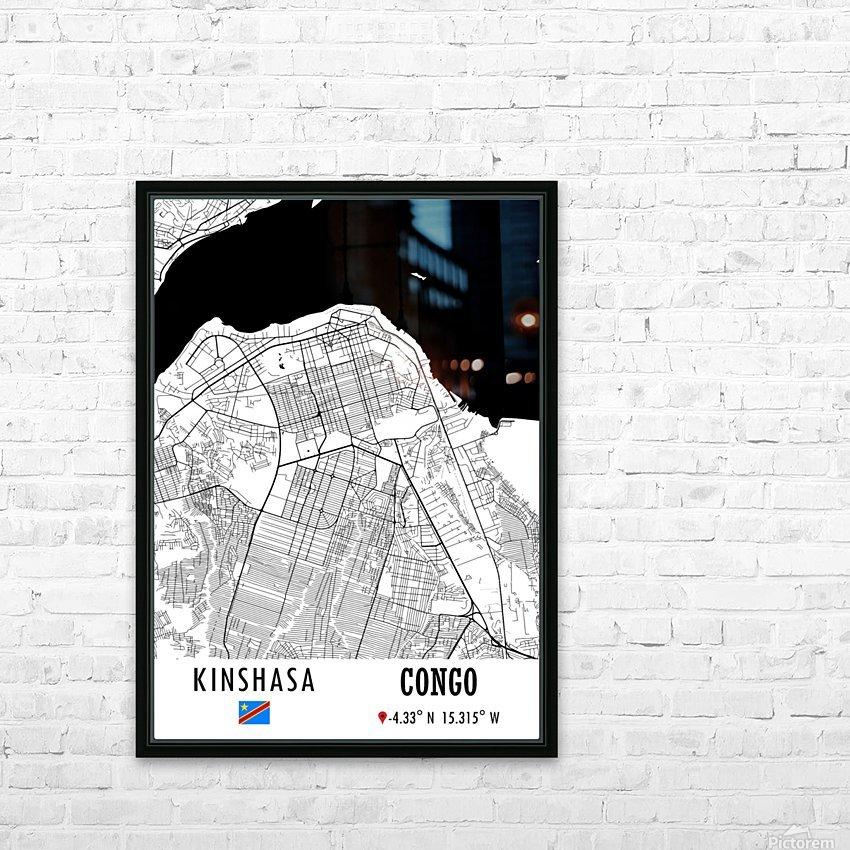 Kinshasa CONGO HD Sublimation Metal print with Decorating Float Frame (BOX)