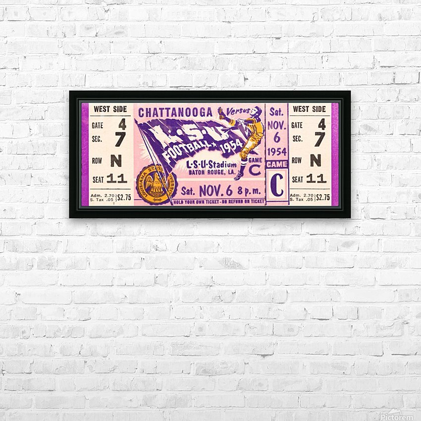 1954 lsu tigers football HD Sublimation Metal print with Decorating Float Frame (BOX)