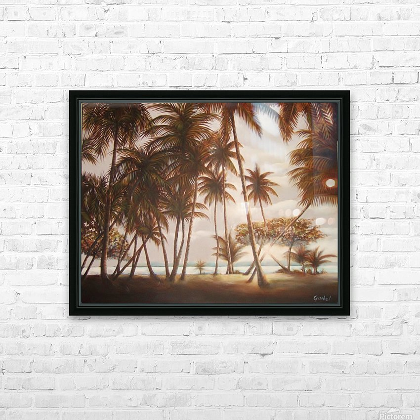 morning beach HD Sublimation Metal print with Decorating Float Frame (BOX)