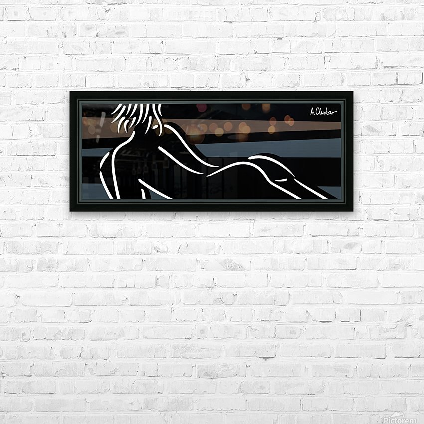 Nude 4 HD Sublimation Metal print with Decorating Float Frame (BOX)