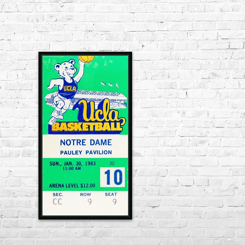 1983 notre dame ucla bruins college basketball HD Sublimation Metal print with Decorating Float Frame (BOX)
