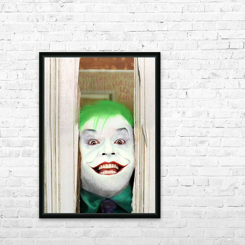 Heres The Joker HD Sublimation Metal print with Decorating Float Frame (BOX)