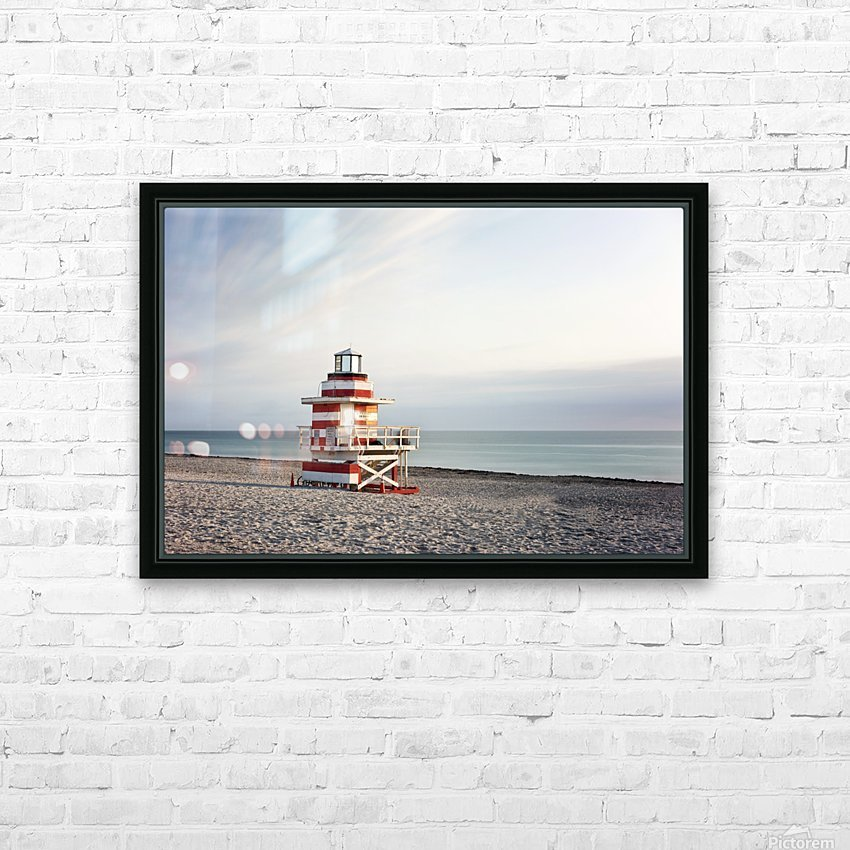Miami Beach 029 HD Sublimation Metal print with Decorating Float Frame (BOX)