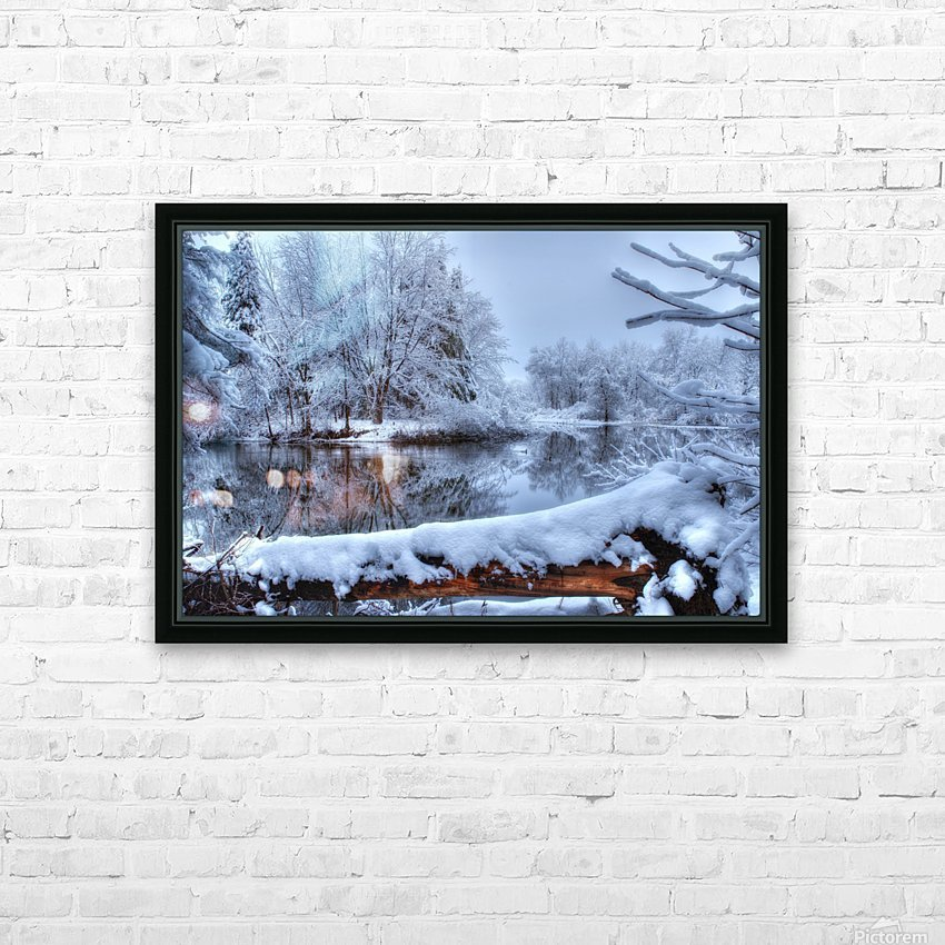 Feerie de l hiver HD Sublimation Metal print with Decorating Float Frame (BOX)