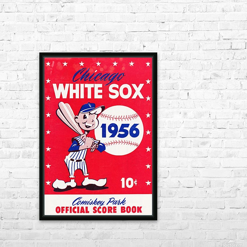 1956 chicago white sox score book canvas HD Sublimation Metal print with Decorating Float Frame (BOX)