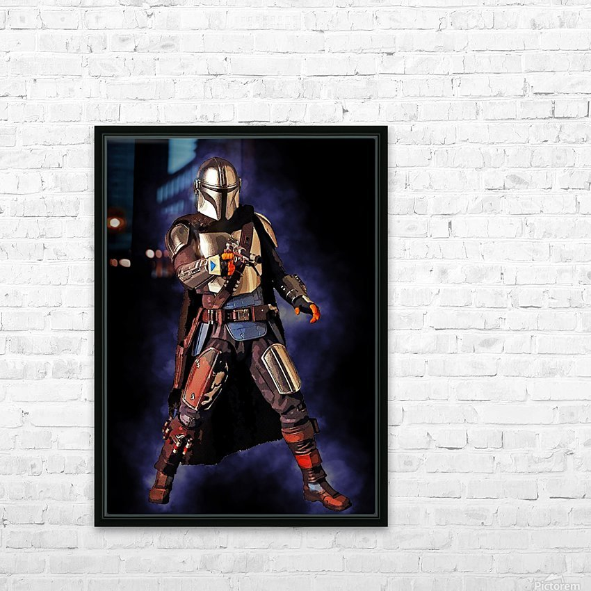 the mandalorian HD Sublimation Metal print with Decorating Float Frame (BOX)