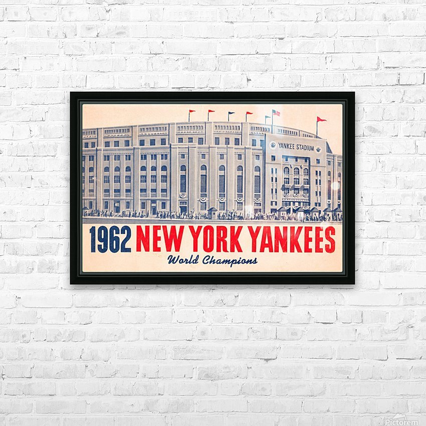 1962 new york yankees world champions HD Sublimation Metal print with Decorating Float Frame (BOX)