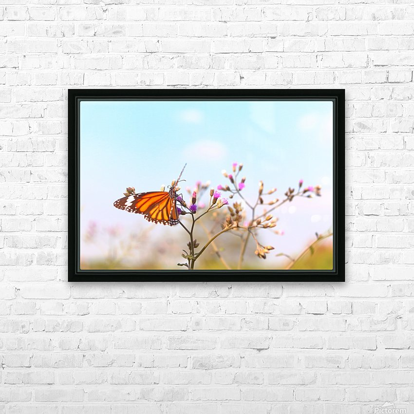 Fluttering Butterfly HD Sublimation Metal print with Decorating Float Frame (BOX)