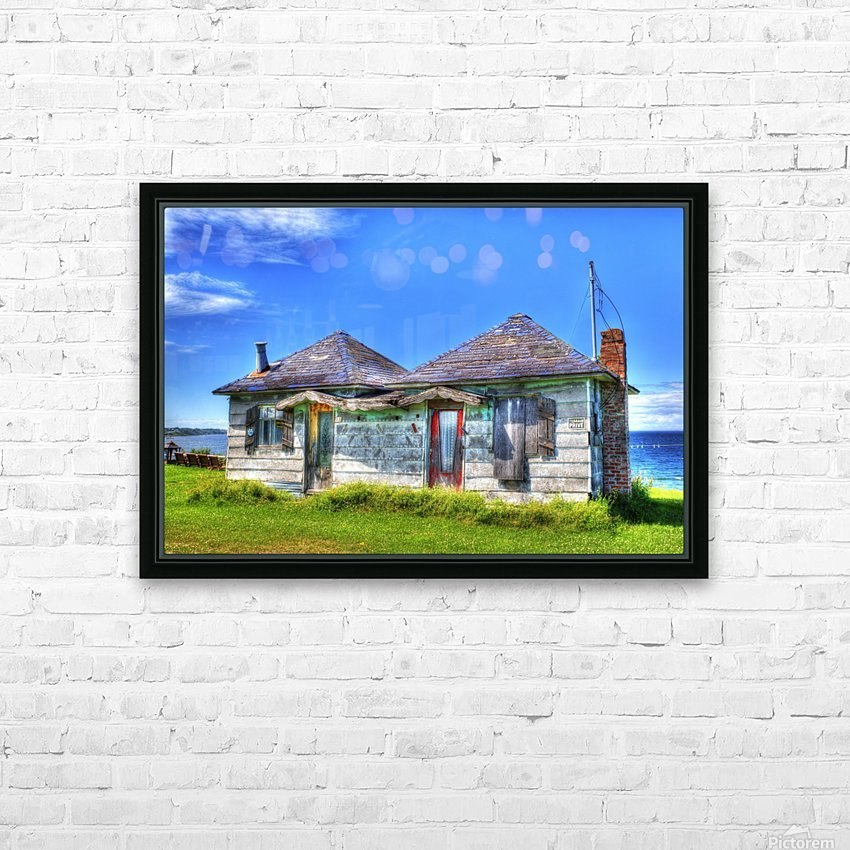 Cabines de plage HD Sublimation Metal print with Decorating Float Frame (BOX)