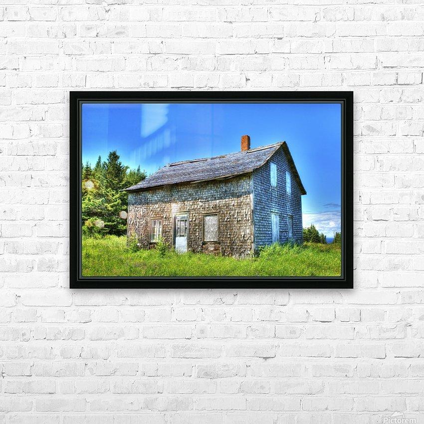 Toit bleu HD Sublimation Metal print with Decorating Float Frame (BOX)