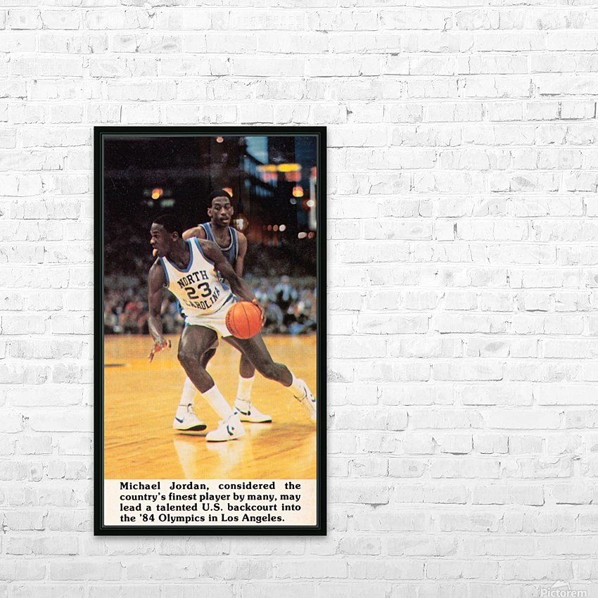 1984 Michael Jordan North Carolina HD Sublimation Metal print with Decorating Float Frame (BOX)