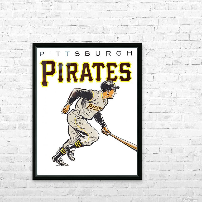 vintage pittsburgh pirates wall art HD Sublimation Metal print with Decorating Float Frame (BOX)