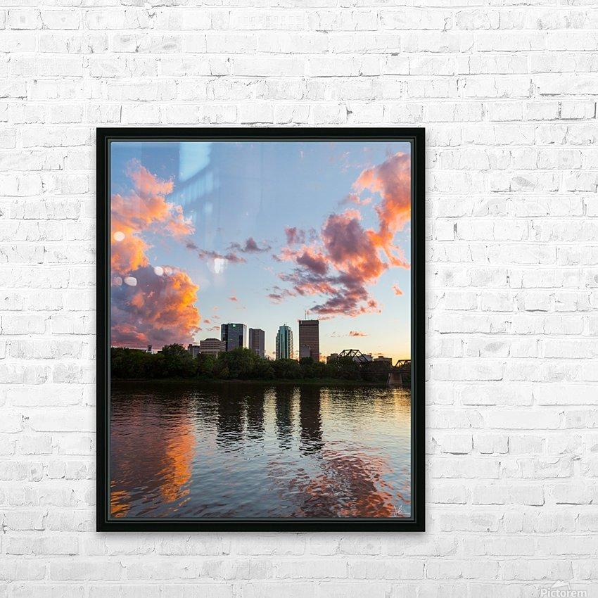 Winnipeg Sunset HD Sublimation Metal print with Decorating Float Frame (BOX)