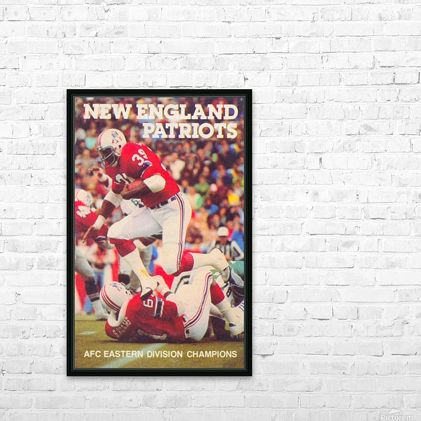 1979 new england patriots vintage nfl poster HD Sublimation Metal print with Decorating Float Frame (BOX)