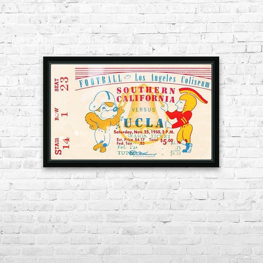 1950 usc ucla los angeles la coliseum college football sports art HD Sublimation Metal print with Decorating Float Frame (BOX)