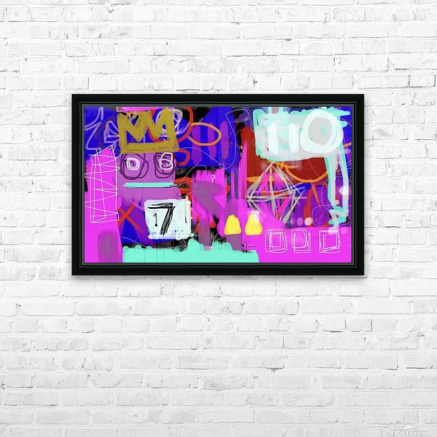 Lucky 17 ED HD Sublimation Metal print with Decorating Float Frame (BOX)