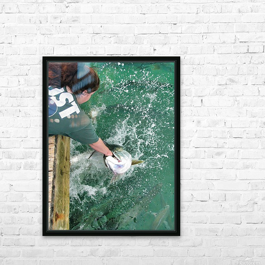 Tarpon Feeding HD Sublimation Metal print with Decorating Float Frame (BOX)