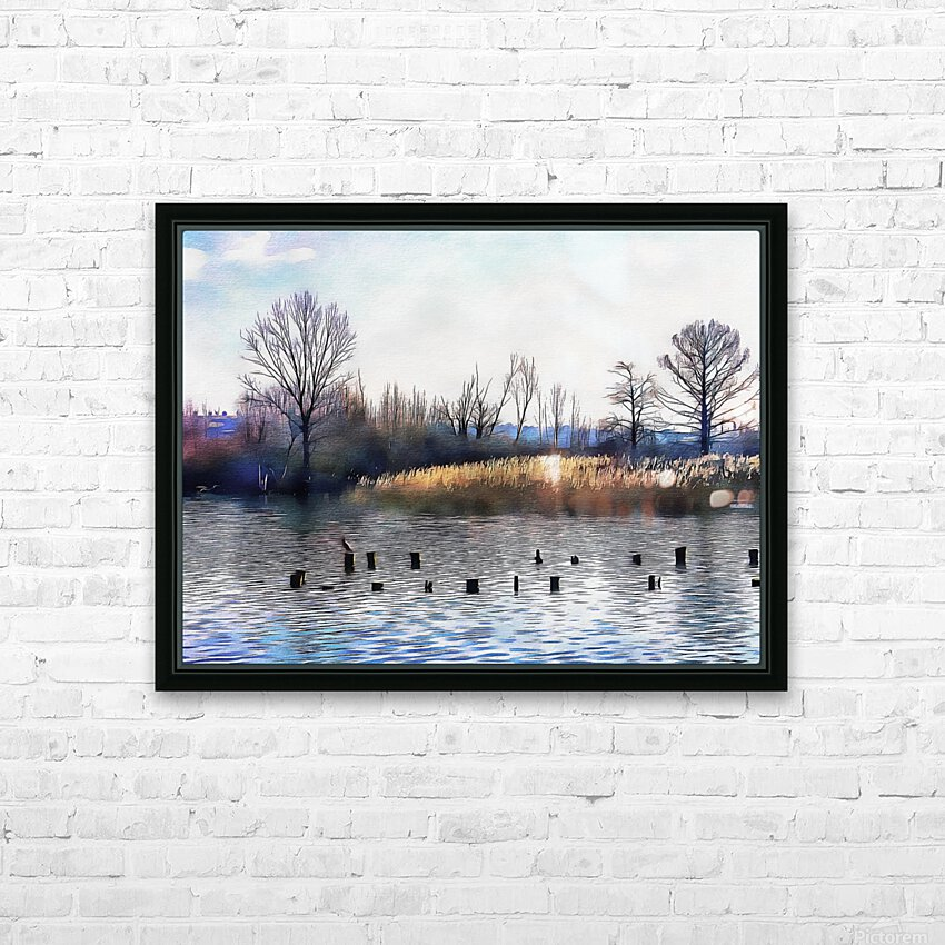 Lago di Chiusi Tuscany HD Sublimation Metal print with Decorating Float Frame (BOX)