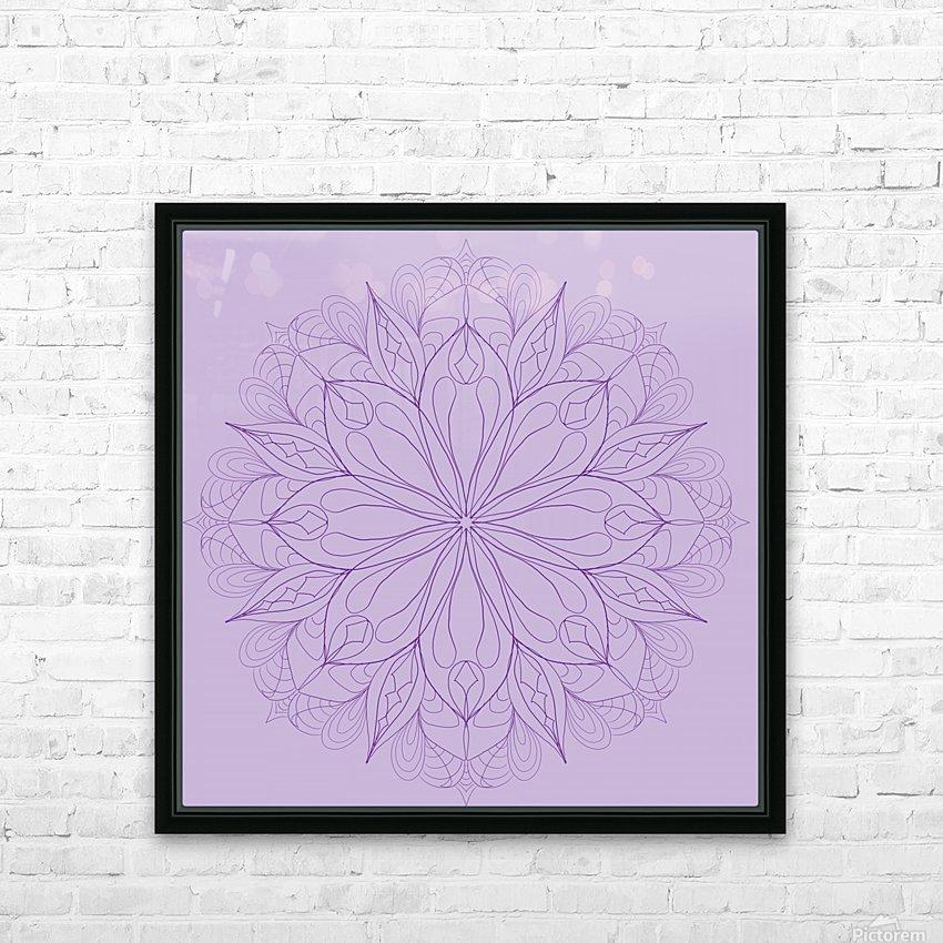 lilac mandala HD Sublimation Metal print with Decorating Float Frame (BOX)