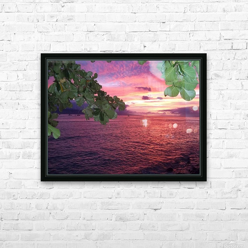 Maui Sunset HD Sublimation Metal print with Decorating Float Frame (BOX)