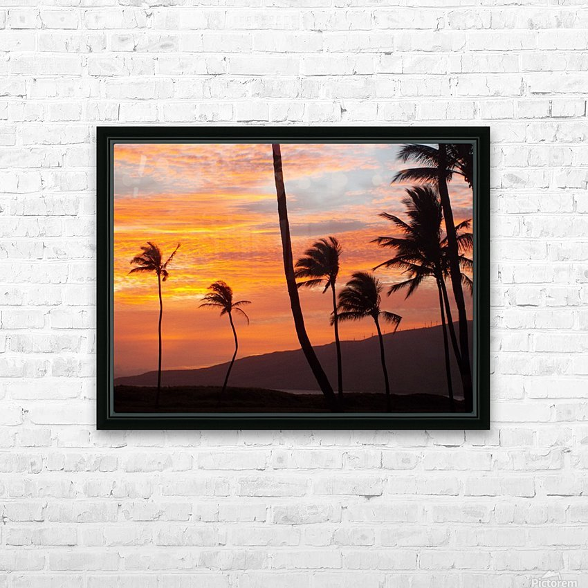 Maui Palms HD Sublimation Metal print with Decorating Float Frame (BOX)
