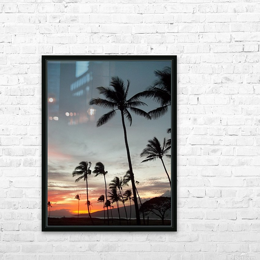 Maui Twilight HD Sublimation Metal print with Decorating Float Frame (BOX)