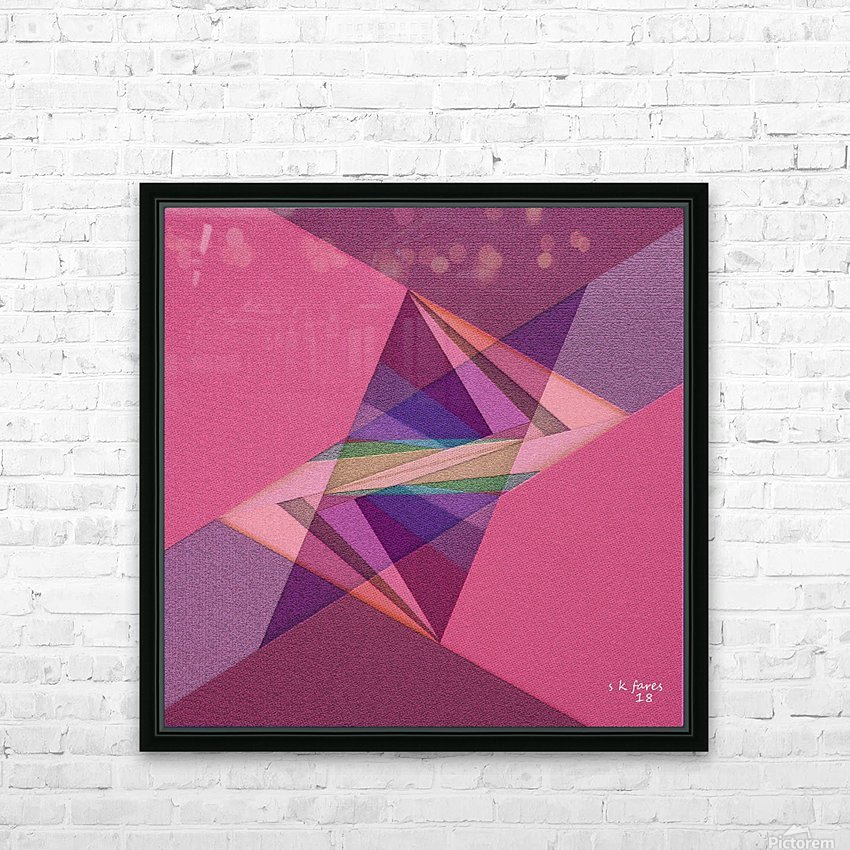 ABSTRACT ART 07 HD Sublimation Metal print with Decorating Float Frame (BOX)