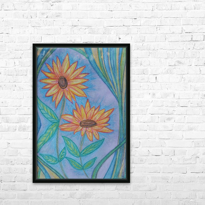 Sunflowers HD Sublimation Metal print with Decorating Float Frame (BOX)