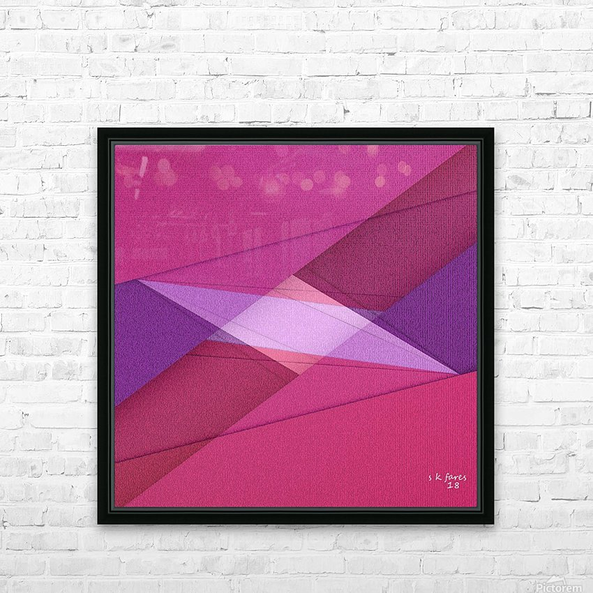 ABSTRACT ART 11 HD Sublimation Metal print with Decorating Float Frame (BOX)