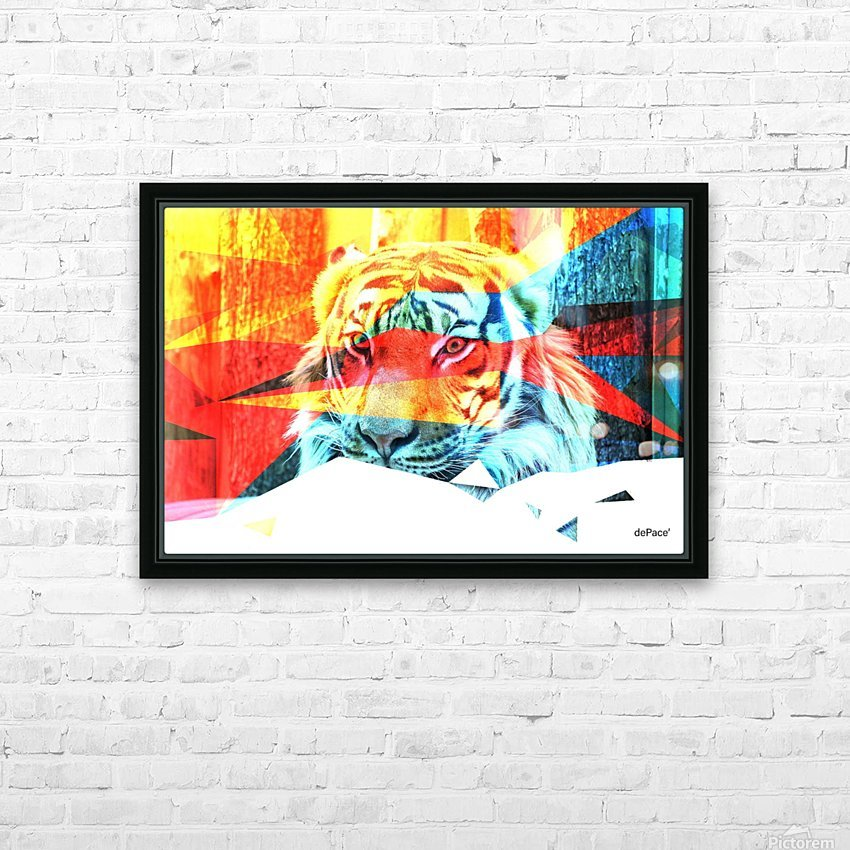 TIGER IN ABSTRACT FORM HD Sublimation Metal print with Decorating Float Frame (BOX)