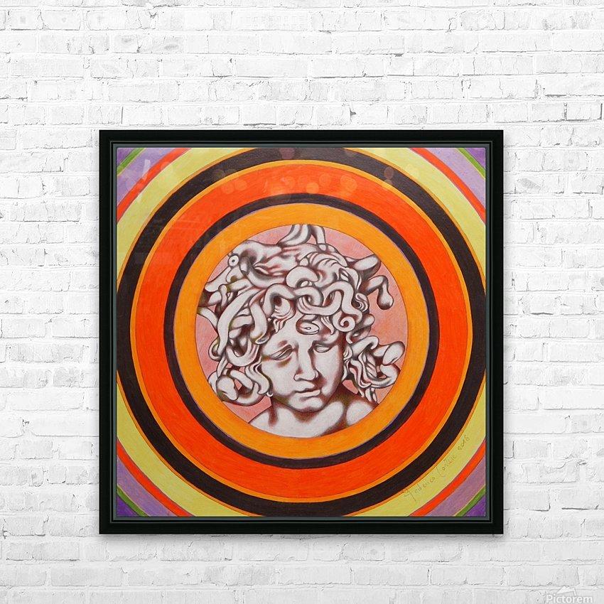 Medusa del Bernini HD Sublimation Metal print with Decorating Float Frame (BOX)