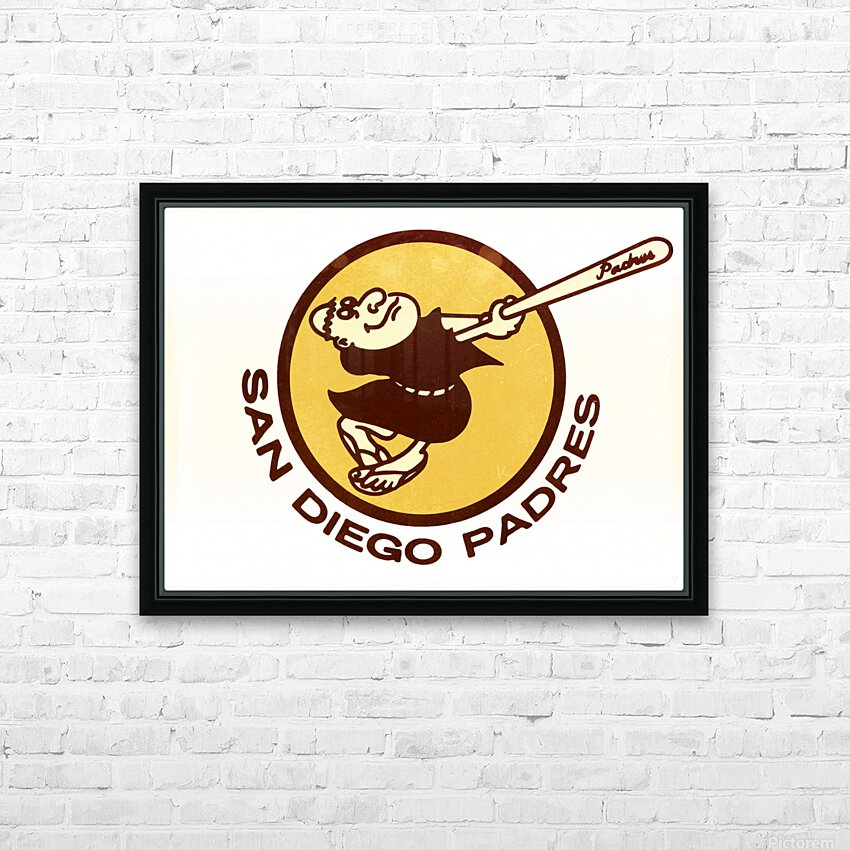 1980 san diego padres logo wall art HD Sublimation Metal print with Decorating Float Frame (BOX)