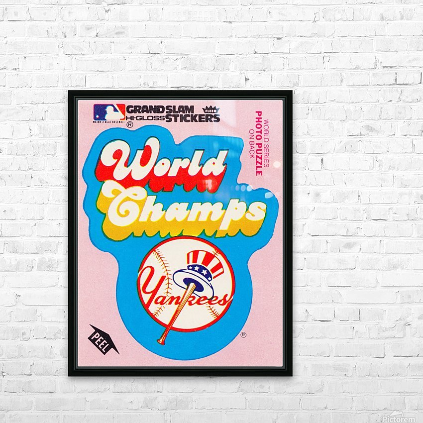 1979 fleer sticker new york yankees world champs poster HD Sublimation Metal print with Decorating Float Frame (BOX)