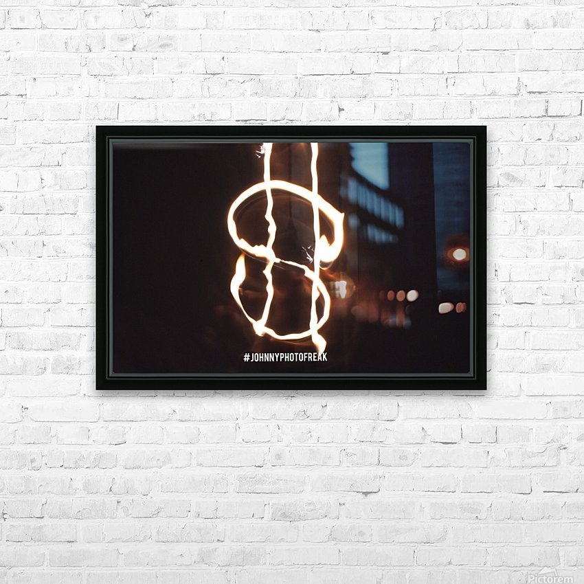 Money light painting fire HD Sublimation Metal print with Decorating Float Frame (BOX)
