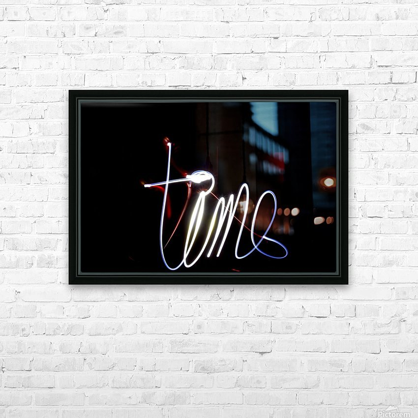 Time  HD Sublimation Metal print with Decorating Float Frame (BOX)