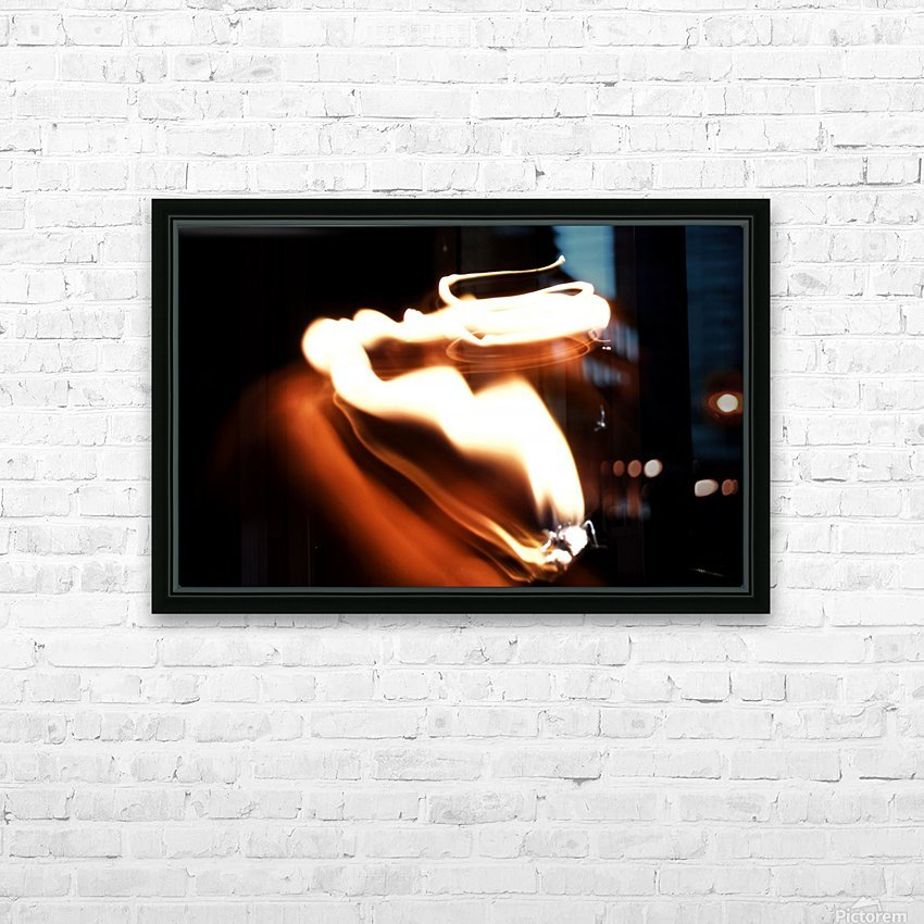 Fire Trail sculpture  HD Sublimation Metal print with Decorating Float Frame (BOX)