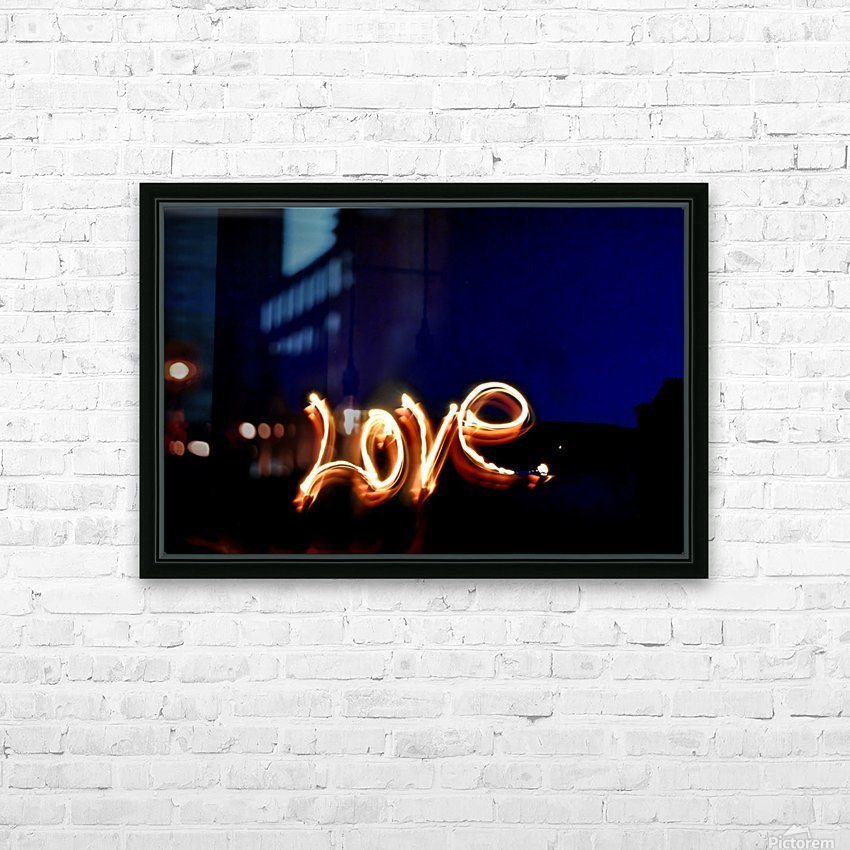 Love lights sculpture  HD Sublimation Metal print with Decorating Float Frame (BOX)