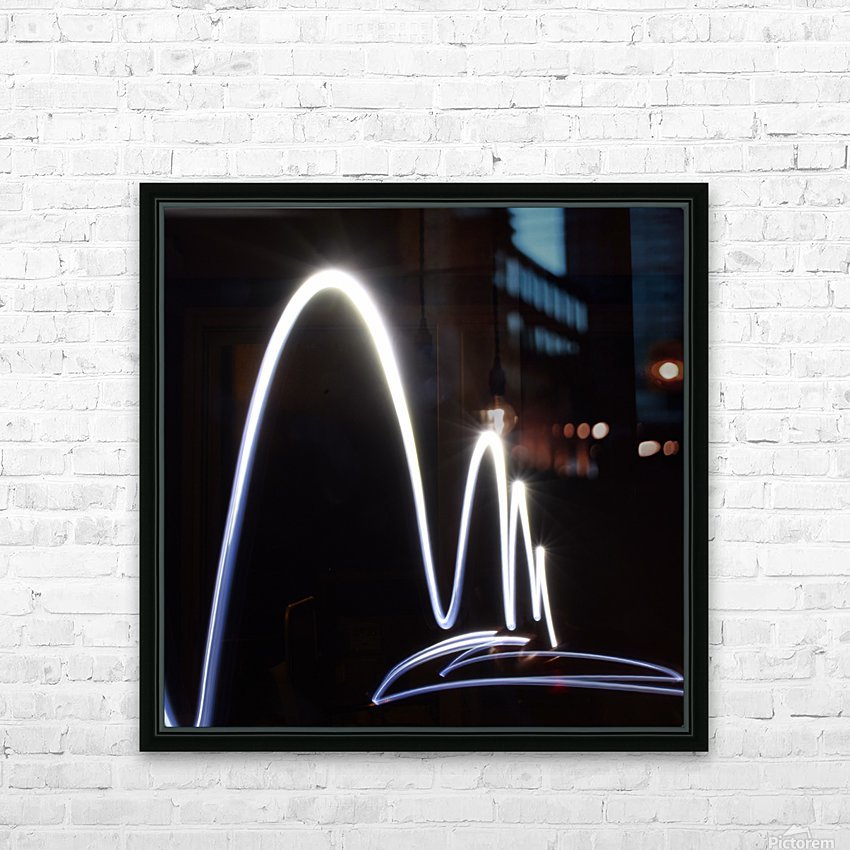 Light Trail  HD Sublimation Metal print with Decorating Float Frame (BOX)